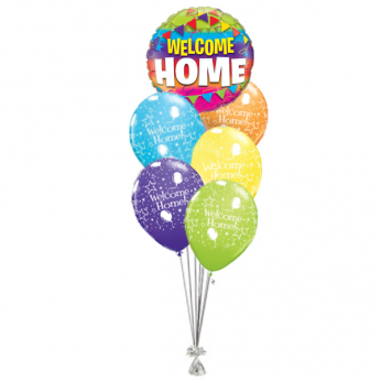 Ballonboeket Welcome Home Flags & Stars